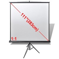 Manual Projector Screen with Adjustable Stand 200cm