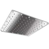 Stainless Steel Square Rainfall Shower Head 40cm