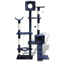 2 Condo Cat Scratching Post Tree in Dark Blue 175cm