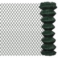 Chain Wire Mesh Fence w/ Green PVC Coating 1.25x15m
