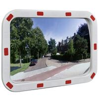 Outdoor Convex Traffic Mirror w/ Reflectors 40x60cm