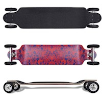 Skull Design Drop Down Longboard Skateboard 103cm
