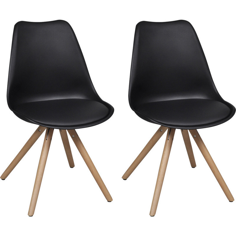 2x Eames Inspired Faux Leather Dining Chairs Black Buy  : 24174801 from www.mydeal.com.au size 800 x 800 jpeg 116kB