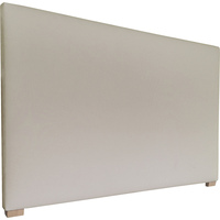 York Double Fabric Upholstered Headboard in Almond
