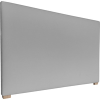 York Double Fabric Upholstered Headboard in Silver