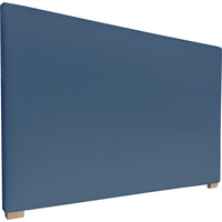 York King Size Fabric Headboard in Denim Blue