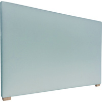 York Queen Size Fabric Upholstered Headboard Aqua