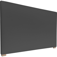York Double Size Fabric Upholstered Headboard Ebony