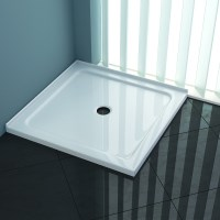 Square Acrylic Shower Base in White 1000x1000mm