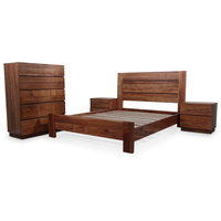 4pc Manhattan Blackwood Queen Bedroom Furniture Set