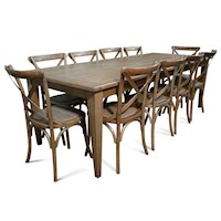 Barossa Wooden Dining Table Set w/ 10 Chairs 2.4m