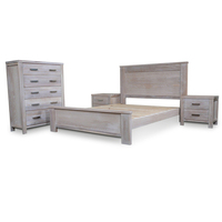 4pc Avalon Ash Wooden Queen Bedroom Furniture Set