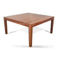 Hamilton Blackwood Wooden Square Dining Table 1.5m