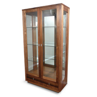 Hamilton Blackwood Timber & Glass Display Cabinet