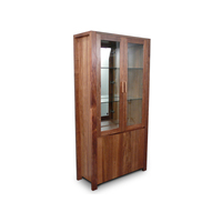 Lumino Blackwood Timber & Glass Display Cabinet