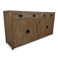 Barossa Rustic Oak Timber Sideboard Buffet 1.8m