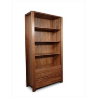 Lumino Blackwood 2 Drawer Bookcase Standing Shelf