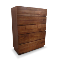 Manhattan Blackwood Wooden Tallboy Chest of Drawers
