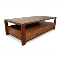 Lumino Blackwood 2 Drawer Wooden Coffee Table 1.4m