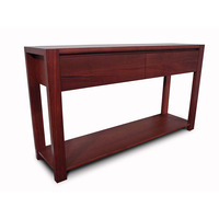 Lumino Jarrah Wood 2 Drawer Console Hall Table 1.4m
