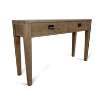 Barossa 2 Drawer Oak Wooden Console Hall Table 1.4m