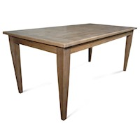 Barossa Rectangle Solid Oak Wood Dining Table 1.5m