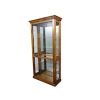 May Pine and Glass Mirrored Back Display Cabinet