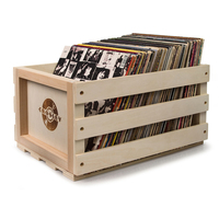 Crosley 75 Album Wood Vinyl Record Storage Crate