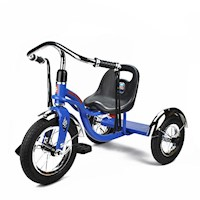 Kids Retro Tricycle Trike w/ Streamers in Blue 12in