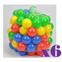 600x Multicolour Self Reshaping Plastic Play Balls