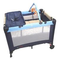 3 in 1 Baby Travel Cot, Bassinet or Changer in Blue