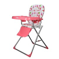 Toddler Baby High Chair in Pink w/ Ice Cream Print