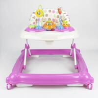 Adjustable Baby Walker with Activity Centre in Pink