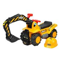Kids Ride On Excavator Digger with Storage & Helmet