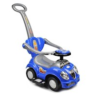 Kids Ride On Car w/ Removable Push Bar in Blue