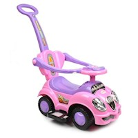 Kids Ride On Car with Removable Push Bar in Pink