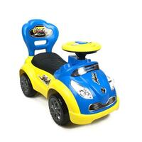 Kids Super Racing Ride On Car with Storage in Blue