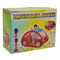 Kids Car Themed Play Tent Ball Pit w 100 Soft Balls