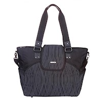Bellotte Select Baby Nappy Bag Tote in Black Waves