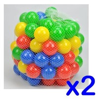 200x Multi-Colour Self Reshaping Plastic Play Balls