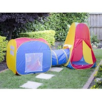 Kids Adventure & Discovery Play Tent w Crawl Tunnel