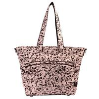 Bellotte Baby Nappy Bag Tote in Pink Baroque Style