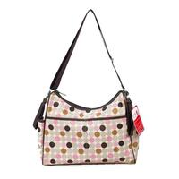 Bellotte Fabric Hobo Baby Nappy Bag in Pink Circles