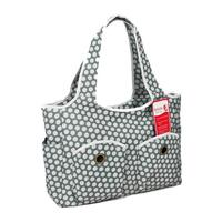 Bellotte Baby Nappy Bag Tote in Grey w/ White Dots