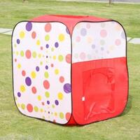 Kids Polka Dot Pop Up Play Tent Cubby House - Cube