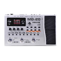 NuX MG20 Modelling Multi FX Guitar Pedal Board