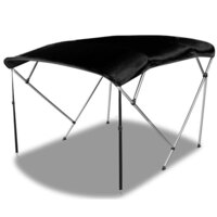 4 Bow Bimini Top Boat Canopy Cover Black 180-200cm