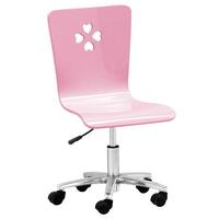 Kids Love Heart Gas Lift Swivel Desk Chair in Pink