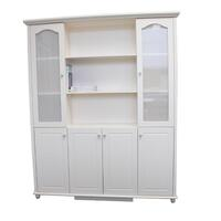 French Glass Display Cabinet with 6 Doors in Beige