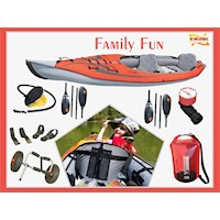 Family Fun Inflatable Kayak Package w/ 2 Paddles